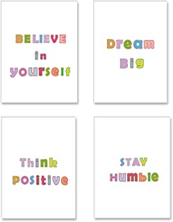 SHIKAIA Unframed Colorful Inspirational Quotes Art Print, Motivational Saying Lettering Canvas Poster, Believe In Yoursel...