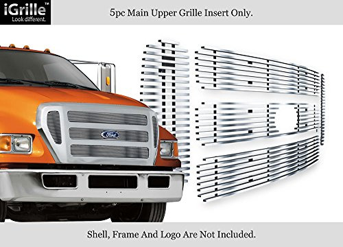 APS Compatible with 2004-2015 Ford F-650 2004-2015 Ford F-750 Stainless Billet Grille Insert F65800S