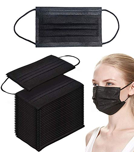 Hancylily Einweg-Gesichtsmaske, Staubfilter, Hygieneartikel, 50 Stück, Schwarz