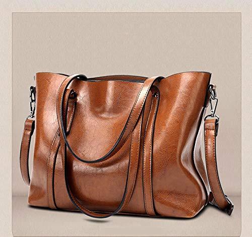 Leiona Cuero de la PU bolsos impermeables señoras bolso de mano Bolsas de hombro para las mujeres bolsas para el trabajo bolsa de compras
