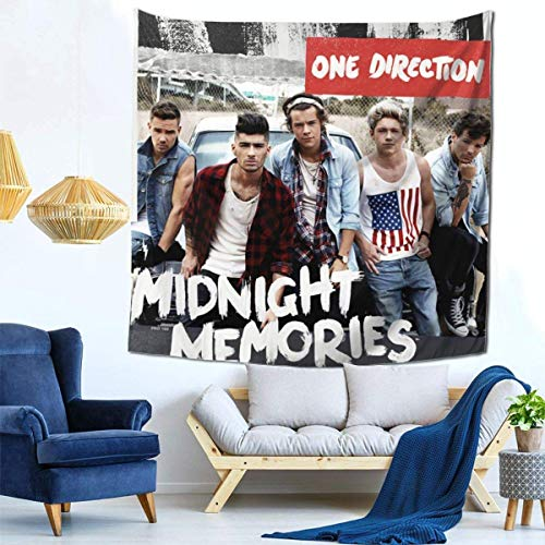 One-Direction tapestrys Tapestry Home Decoration Black One Size