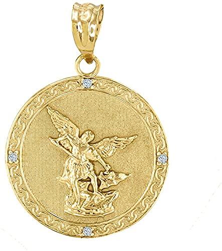 10K Yellow Gold Saint Michael The Archangel...
