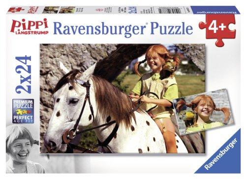 Ravensburger 08887 - Pippi Langstrumpf, 2 x 24 Teile Puzzle