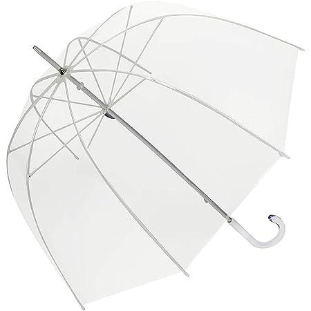 SeniorMar en Plastique Transparent Parapluie Belle Pluie Ensoleill/ée Femmes Filles Filles Dames /À Long Poign/ée Birdcage D/ôme Voir /À Travers Les Parapluies