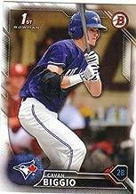 2016 Bowman Draft #BD-81 Cavan Biggio RC Rookie MLB Baseball Trading Card Toronto Blue Jays