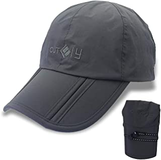 OUTFLY Gracelife Waterproof Baseball Cap Foldable Sun Hat Unisex Man Woman Peaked Outdoor Quick-Drying Collapsible Portable Hat