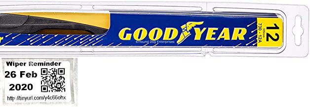 Goodyear Rear - Rear Windshield Wiper Blade Bundle - 2 Items: Rear Blade & Reminder Sticker fits 2010-2012 Hyundai Elantra (Touring GLS) (Premium)