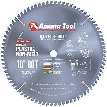 "wholesale Amana Tool - online LB10801C Electro-BLU Carbide Tipped popular Non-Melt Plastic 10"" Dia x 80T M-Tcg outlet sale"