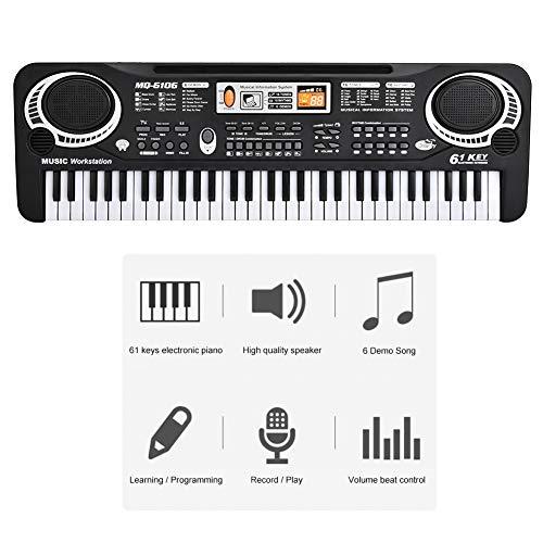 Piano digital eléctrico, teclado de piano digital electrónico, piano eléctrico, piano digital, 100-240 V, 61 teclas para el hogar