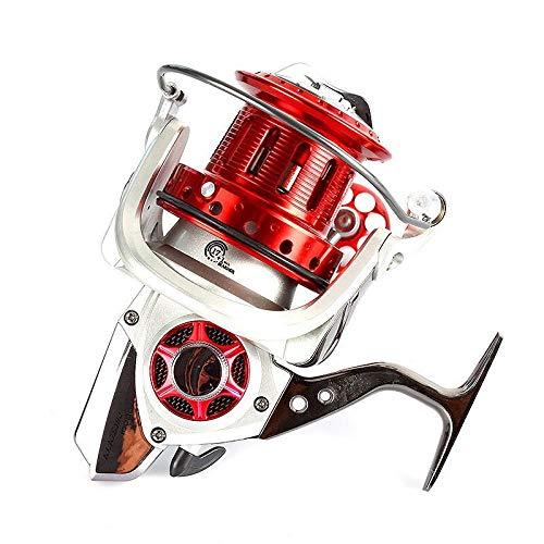 XXBFDT per Pesca a Spinning per Grandi Predatori - Ruota da Pesca a Ruota di filatura gapless a Tazza Piena in Metallo-Tipo 12000