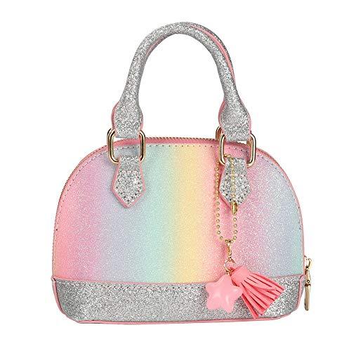 CMK Trendy Kids Glitter Toddler Purse for Little Girls Mini Kids Crossbody Handbag Shoulder Bag Age 2-10 (PKBURB)