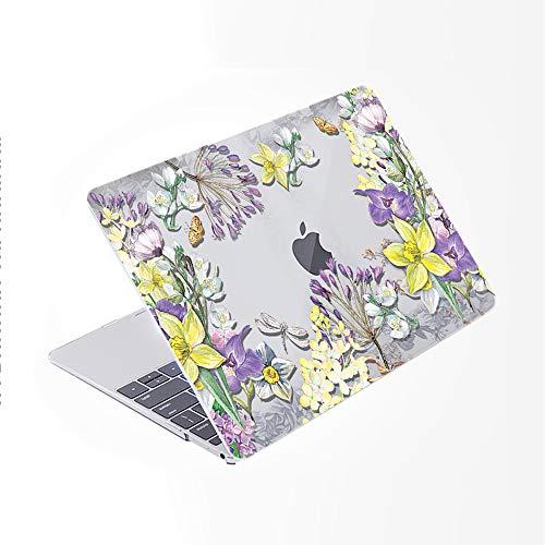 SDH Funda para MacBook Pro de 13 pulgadas (2020/2019/2018/2017/2016, Touch Bar e ID), carcasa rígida con patrón de plástico y funda para portátil Mac Pro 13 A2159/A1989/A1706/A1708, Flower World 3