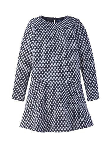 TOM TAILOR Mädchen Kleider & Jumpsuits Kleid mit Stern-Motiv Night Sky|Blue,116/122
