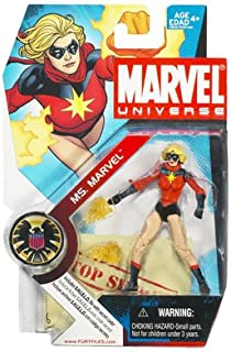 Marvel Universe 3 3/4 Inch Series 3 Action Figure #23 Ms. Marvel Classic with Red Shirt