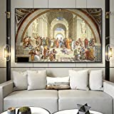 MhY Berühmte Malerei Art School of Athens von Raphael,