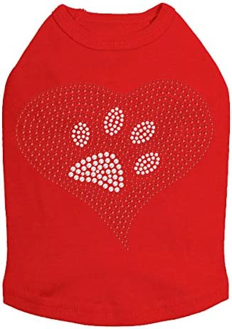 Red Limited time for free shipping Heart with Paw Milwaukee Mall #2 - Dog Shirt L
