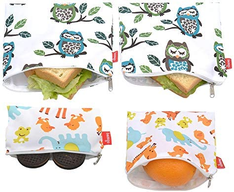 Reusable Sandwich Bags and Eco Friendly Kids Lunch Bags snack Bags for Food Storage Safe and product image