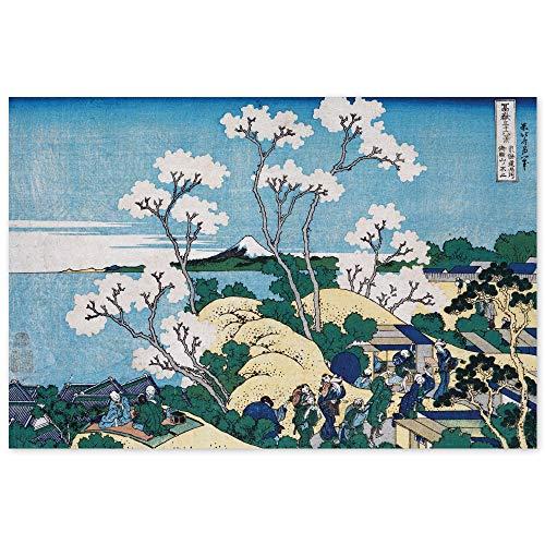 JUNIWORDS Poster, Katsushika Hokusai, Fuji gesehen aus Gotenyama bei Shinagawa an der Tokai-Straße, 60 x 40 cm