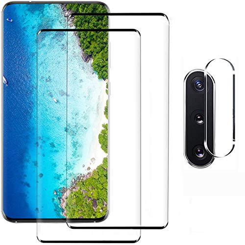 Galaxy Note 10 Plus Screen Protector and Camera Protector, [2 Screen Protectors + 1 Camera Protector][Support Fingerprint] Tempered Glass Screen Protector for Samsung Galaxy Note 10 Plus 4G/5G