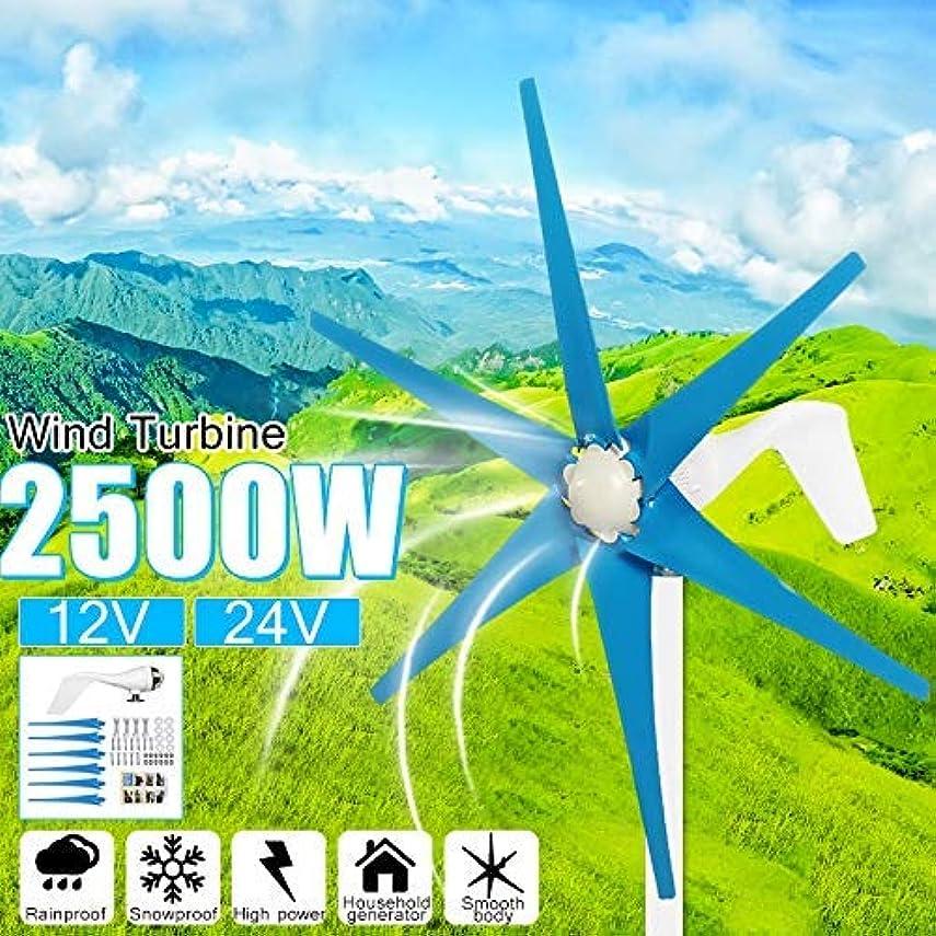 肉のほとんどの場合いろいろ2500W 12V / 24V 6シート風力タービン+コントローラー風力発電機風力発電機風力タービン,12v