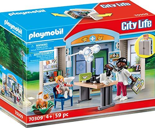 PLAYMOBIL City Life 70309 - Spielbox Beim Tierarzt, ab 4 Jahren