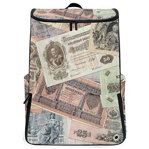 Rucksack Rucksack Travel Daypack Altes Geld des kaiserlichen Russland Book Bag Casual Travel Waterproof