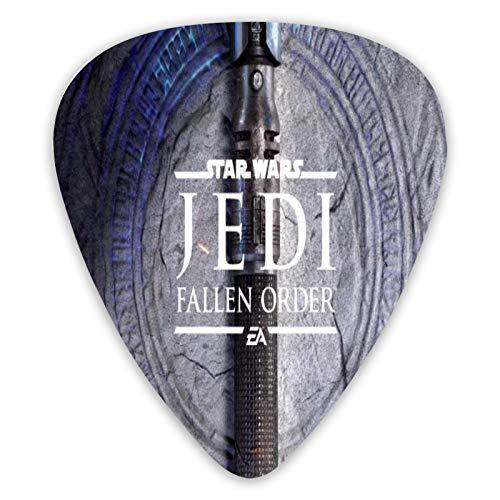 Star Wars Juego de púas de guitarra Jedi Fallen Order con 6 púas, púas para guitarra acústica, guitarra eléctrica, ukelele, bajo, púas de guitarra, accesorios para guitarra