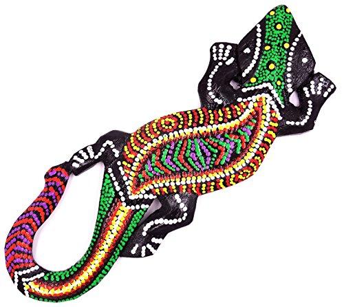 Zen Shop - Salamandra Gecko de madera de lagarto, 20 cm