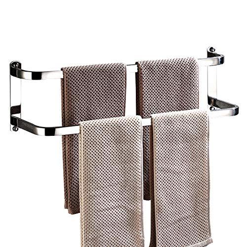 Toalleros Barra Para Baño Sencillo Elegante y Ligero Adlereyire (Color : Silver, Size : 70×14.5×17.2cm)
