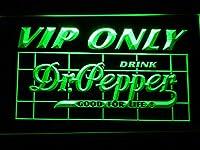 Dr Pepper VIP Only LED看板 ネオンサイン ライト 電飾 広告用標識 W60cm x H40cm グリーン