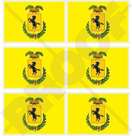 Province de Naples Drapeau Italie, Province Di Napoli italien 40 mm (40,6 cm) Téléphone Mobile Mini en vinyle autocollants, Stickers x6