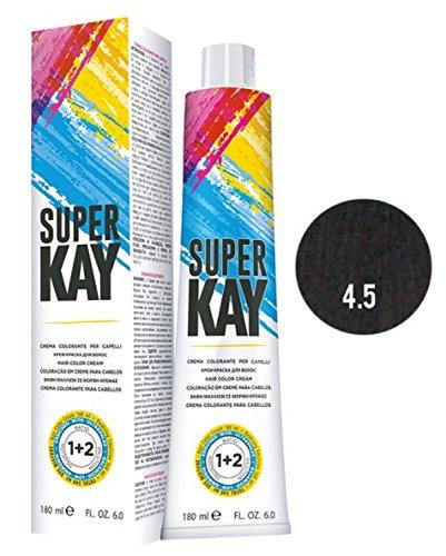 Super Kay Creme Haarfarbe angereichert mit Ultraphlex von Kepro 4.5 Mahagonibraun 180 ml