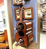 SLINGDA Europäischer Stil Kreative 60 cm Woody Vertical Weinschrank Weinregale Geige Modellieren Weinregal Wohnkultur Akzente Sammlerstücke Tischszenen, 60 * 12 * 20 cm