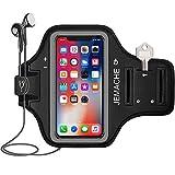 iPhone 12, 12 Pro, 11 Pro, X, XS Fascia Da Braccio Portacellulare, JEMACHE Palestra Esercizi Porta Telefono Cellulare da Corsa per iPhone 12, 12 Pro, 11 Pro, X, XS (Nero)