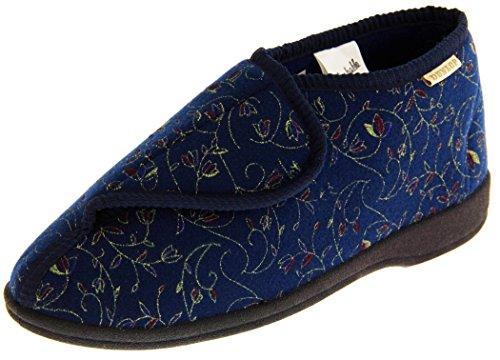Dunlop Mujer Azul Marino Zapatillas De Toque de Fijación Ortopédica EU 39