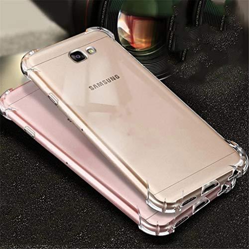 BIZHIKE Funda para Samsung Galaxy J5 Prime(2017) Carcasa Silicona Transparente Protector TPU Airbag Anti-Choque Ultra-Delgado Anti-arañazos Case -Transparente