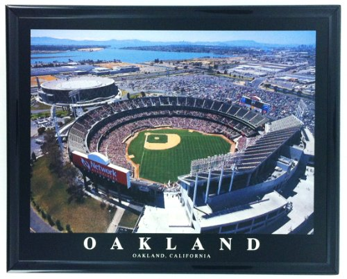 Oakland Athletics Alameda Coliseum Framed Aerial Photo F7577A