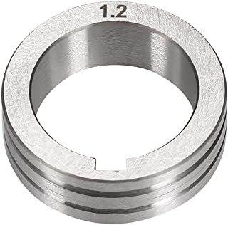 uxcell Welder Wire Feed Drive Roller 1.0-1.2mm Groove Roll Part for Welding Machine Tool