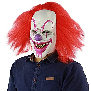 Scary and Sinister Halloween Clown Masks Costume Cosplay Props Adult Latex Clown Masks,Horror,Devil
