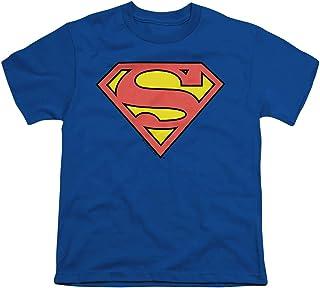 Superman Classic Logo Youth Boys Blue T-shirt