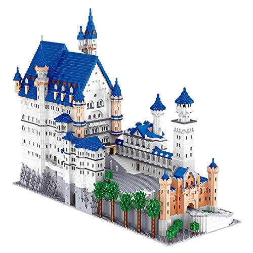 Bloques De Construcción del Castillo De Neuschwanstein, Modelo Arquitectónico, Rompecabezas 3D, Edificios Famosos con Modelos Arquitectónicos, Alto Nivel De Dificultad