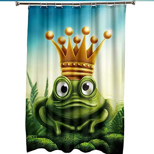 MALECUPWH Badevorhang 220X200 cm Frosch Tier Duschvorhang Set Polyester Stoff Mit Duschvorhang Ring Anti Schimmel Wasserdicht