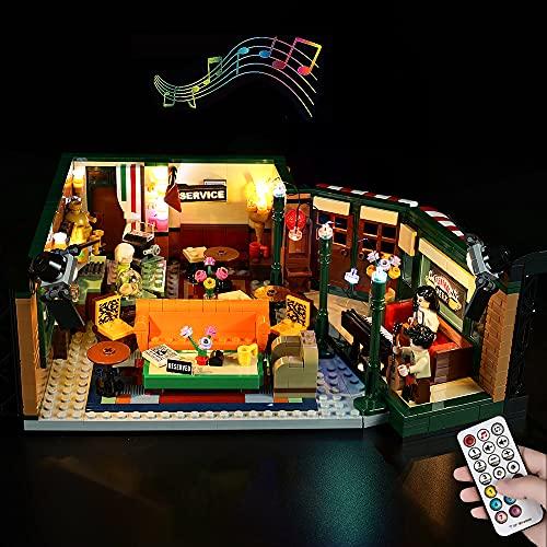 lego friends serie tv LODIY Telecomando Luci Kit con Suoni per Lego 21319 Ideas Central Perk della Serie TV Friends - Illuminazione LED Kit per Lego 21319 (Solo Luci
