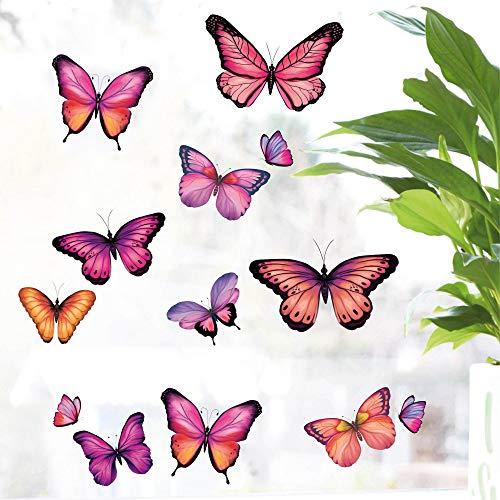 Wandtattoo Loft Fensteraufkleber Pastell Schmetterlinge - 29 Aufkleber im Set - Wiederverwendbar Fensterbild
