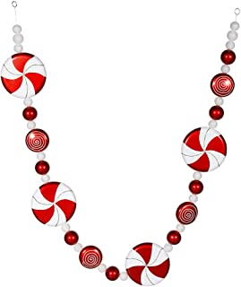 Vickerman Peppermint Candy Garland Red-White, 6-Inch