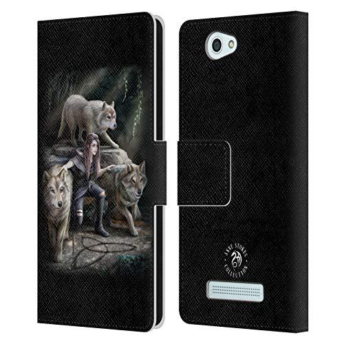 Head Hülle Designs Offizielle Anne Stokes Power Von Dem Baum Fantasie 2 Leder Brieftaschen Handyhülle Hülle Huelle kompatibel mit Wileyfox Spark/Plus