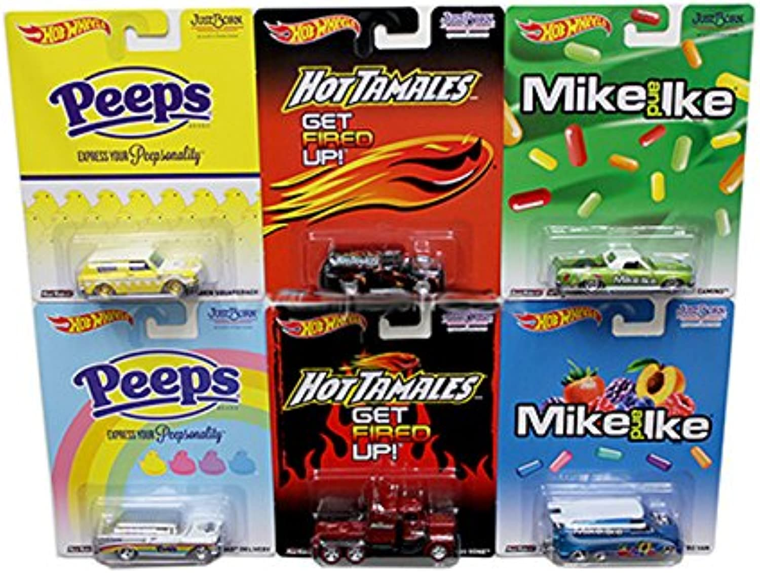 HOT WHEELS 1 64 POP CULTURE 2014 JUST BORN CANDY CASE N ASSORTMENT 6PCS X8308956N