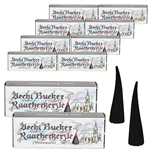 10 Päckchen mit je 4 Echt Bucker RIESEN Räucherkerzen - Weihrauch