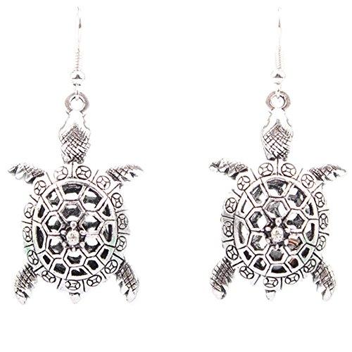 Joyfeel buy 1 Paar Ohrringe Damen Mädchen Retro Hollow Schildkröte Ohrringe Hängend Geschenk für Geburtstag/Jahrestag/Valentinstag