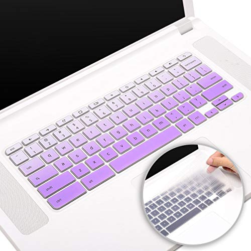 Acer Chromebook Keyboard Cover for Acer Chromebook R13 CB5-312T, Acer Chromebook Spin 13 CP713, Acer Chromebook Spin 11 CP311 Series, Acer Chromebook 11 Keyboard Skin(Ombre Purple+Clear)